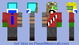 Hermitcraft guys mix Minecraft Skin