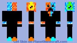 Ice and fire creeper man Minecraft Skin