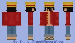 Straw Hat Pirate Monkey D. Luffy Minecraft Skin