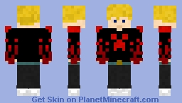 HitmeJr. (red&black) V2.1 Minecraft Skin