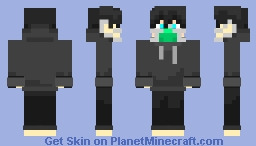 fixed hoodie boy with mask Minecraft Skin
