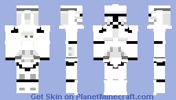 Phase 1 Clone trooper (CW 2008 update) Minecraft Skin