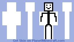 stick man Minecraft Skin