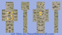 the mummy with a golden heart Minecraft Skin