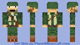 WWII American Soldier Minecraft Skin
