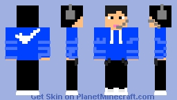me wearing headsets and nike Minecraft Skin