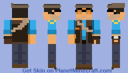 Team Fortress 2 (2007) - Sniper (BLU) Minecraft Skin