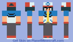 (Pokemon) Black and White/Best Wishes Series Ash Ketchum Skin Minecraft Skin