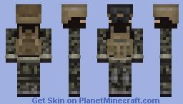 Soldier [Forest Camo & Khaki] Minecraft Skin