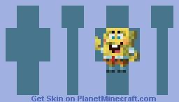 Spongebob Squarepants pixel art Minecraft Skin