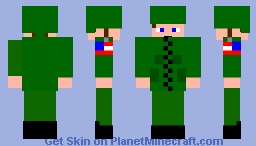 american soldier d day Minecraft Skin