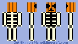 pumpkin skeleton Minecraft Skin