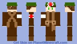 WW2 British MEDIC Minecraft Skin