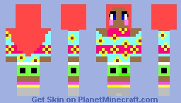flower pajamas Minecraft Skin