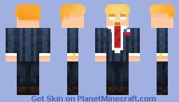 trump with rotten teeth and herobrine eyes Minecraft Skin