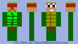 boy tiny turtle blond and red hair Minecraft Skin