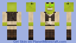 Papercraft Shreklace with Glowing Eyes Minecraft Skin
