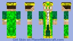 Emerald Monarch/Mage Minecraft Skin