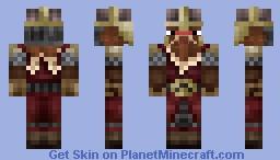 Gimli, but as a Minecraft Strider Minecraft Skin