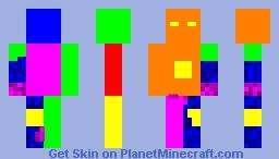 rainbow iron man Minecraft Skin