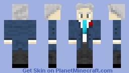 Professor Eingalant Blue Suit, The Herobrine Entity Minecraft Skin