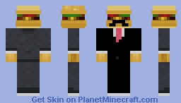 Hamburger Front suit Minecraft Skin