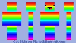 Rainbow guy Minecraft Skin