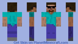 steve with shades Minecraft Skin
