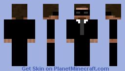 SIB (Steve In Black) Minecraft Skin