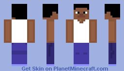 carl johnson from gta san andreas Minecraft Skin