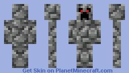 Cobblestone Creeper Minecraft Skin