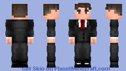Black Suit Tuxedo Minecraft Skin