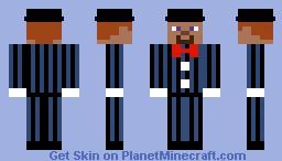 Blue Suit Minecraft Skin
