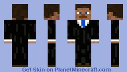 Suit-blue tie Minecraft Skin