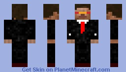 cyborg in a suit Minecraft Skin