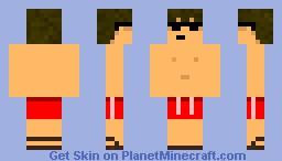 Red Swimsuit Minecraft Skin