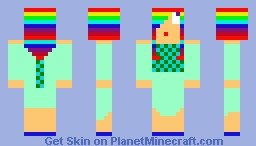 Happy Rainbow Summer Girl Minecraft Skin
