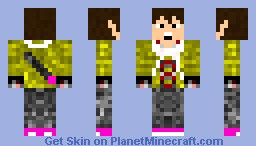 Guy with a Scarf and a Tee Shirt Minecraft Skin