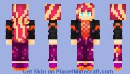 Sunset Shimmer (Sunset's Backstage Pass) - My Little Pony: Equestria Girls Minecraft Skin