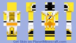 Super Shinken Yellow / スーパーシンケンイエロー | Samurai Sentai Shinkenger Minecraft Skin