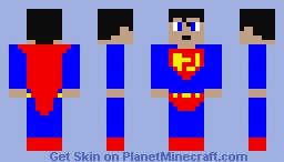 Super Man Minecraft Skin