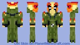 Swampfire | Ben 10 | OS Style Minecraft Skin