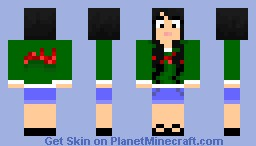 Girl In Cute Christmas Sweater Minecraft Skin