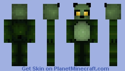 Sweetcorn The Zombie Panda - Paint_Bucket. Minecraft Skin