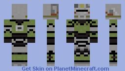 Fallout T-51b Minecraft Skin