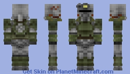T-51b Power armor  ( Fallout ) [Now in 1.8 ! ] Minecraft Skin