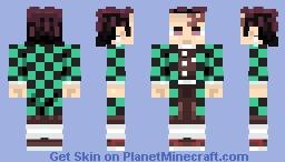 Tanjiro - Demon slayer Minecraft Skin
