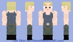 Class S Rank 16 Tanktop Master:One Punch Man Minecraft Skin