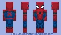 Spiderman ( Stark Suit ) Minecraft Skin
