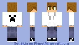 Teenager + Creeper Hoodie!! Minecraft Skin